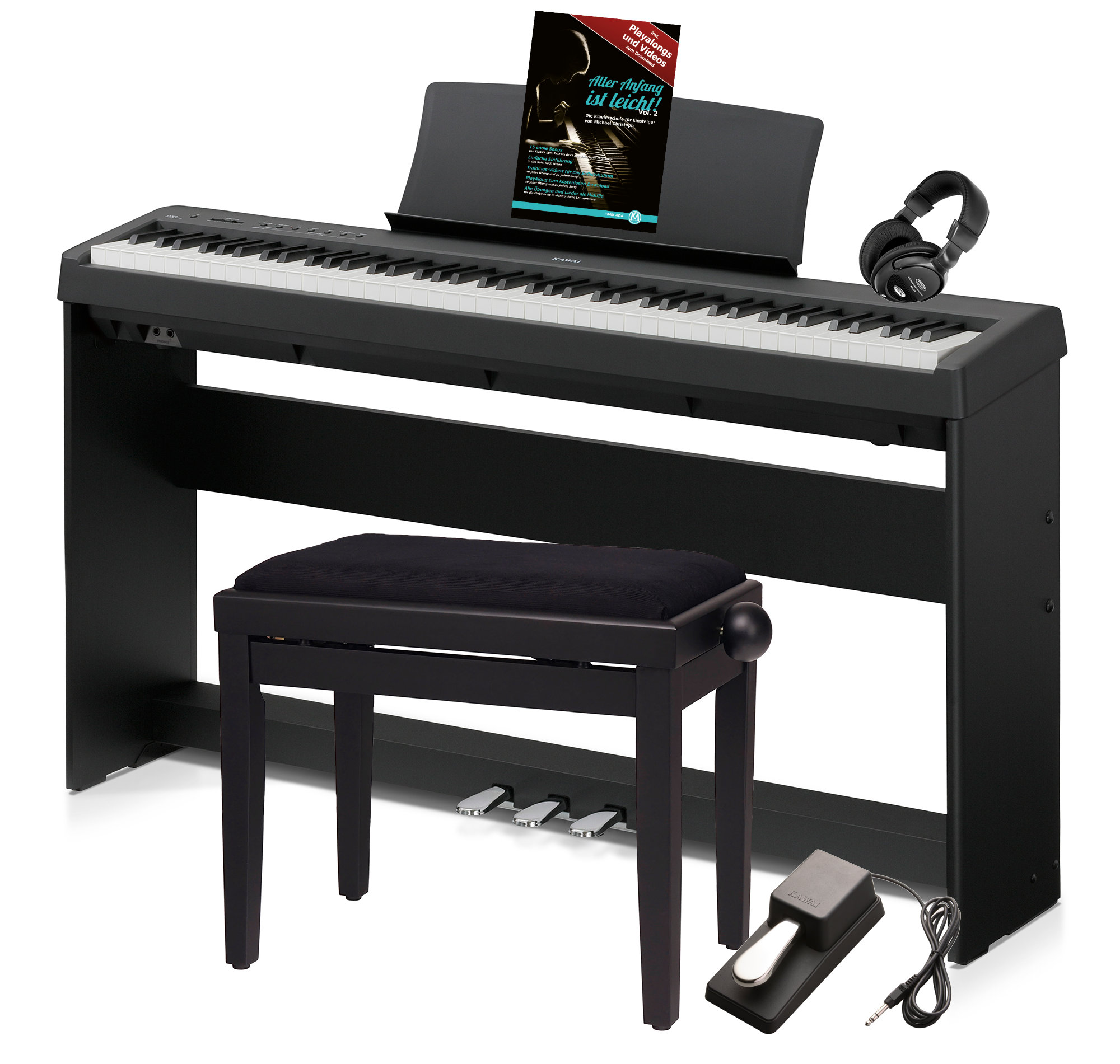 kawai es 110 b stagepiano schwarz deluxe set st nder pedaleinheit kopfh rer bank noten. Black Bedroom Furniture Sets. Home Design Ideas