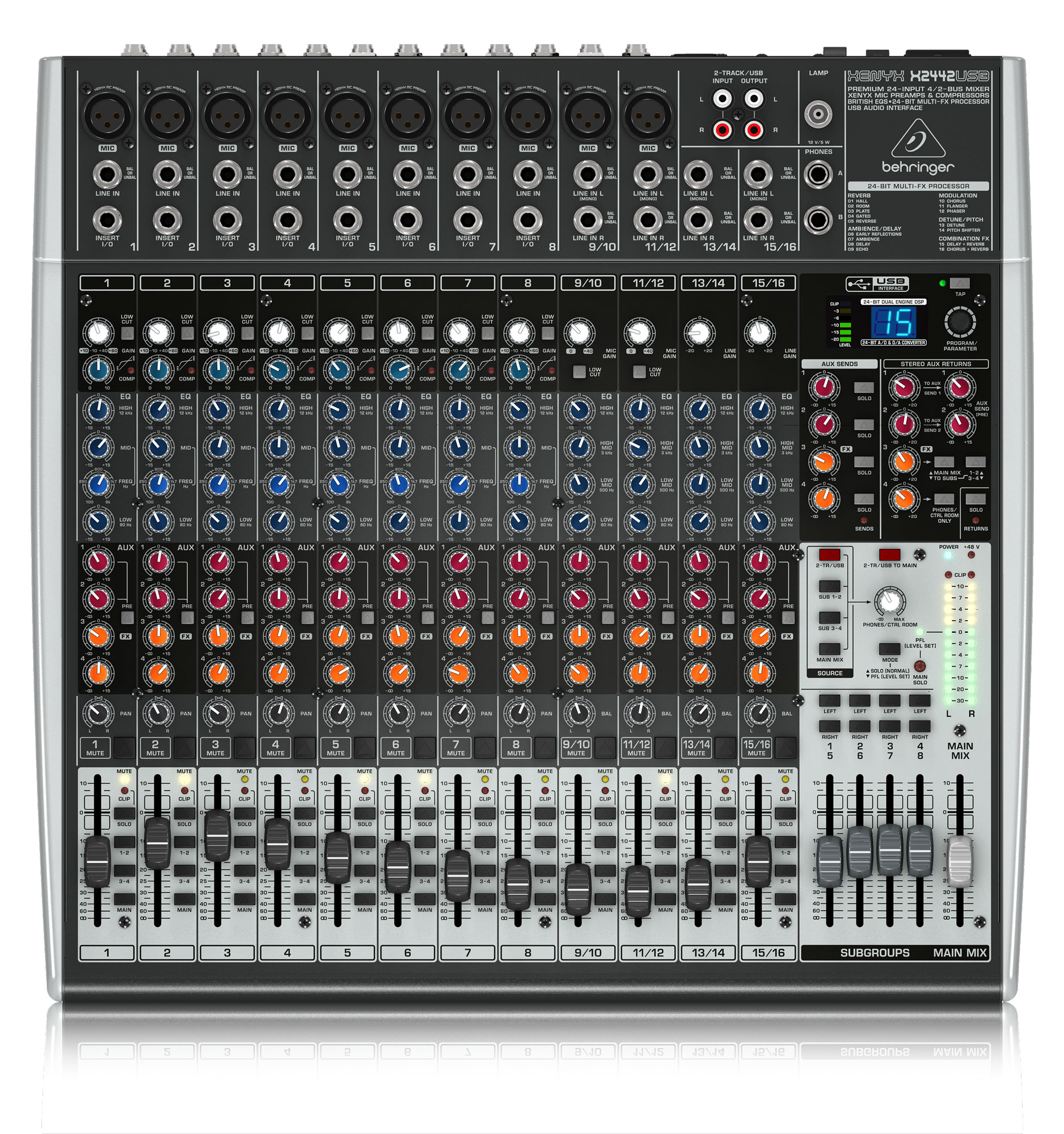 Mischpulte - Behringer Xenyx X2442 USB Mischpult - Onlineshop Musikhaus Kirstein