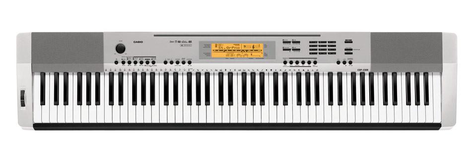 Casio CDP 230R SR E Piano Silber