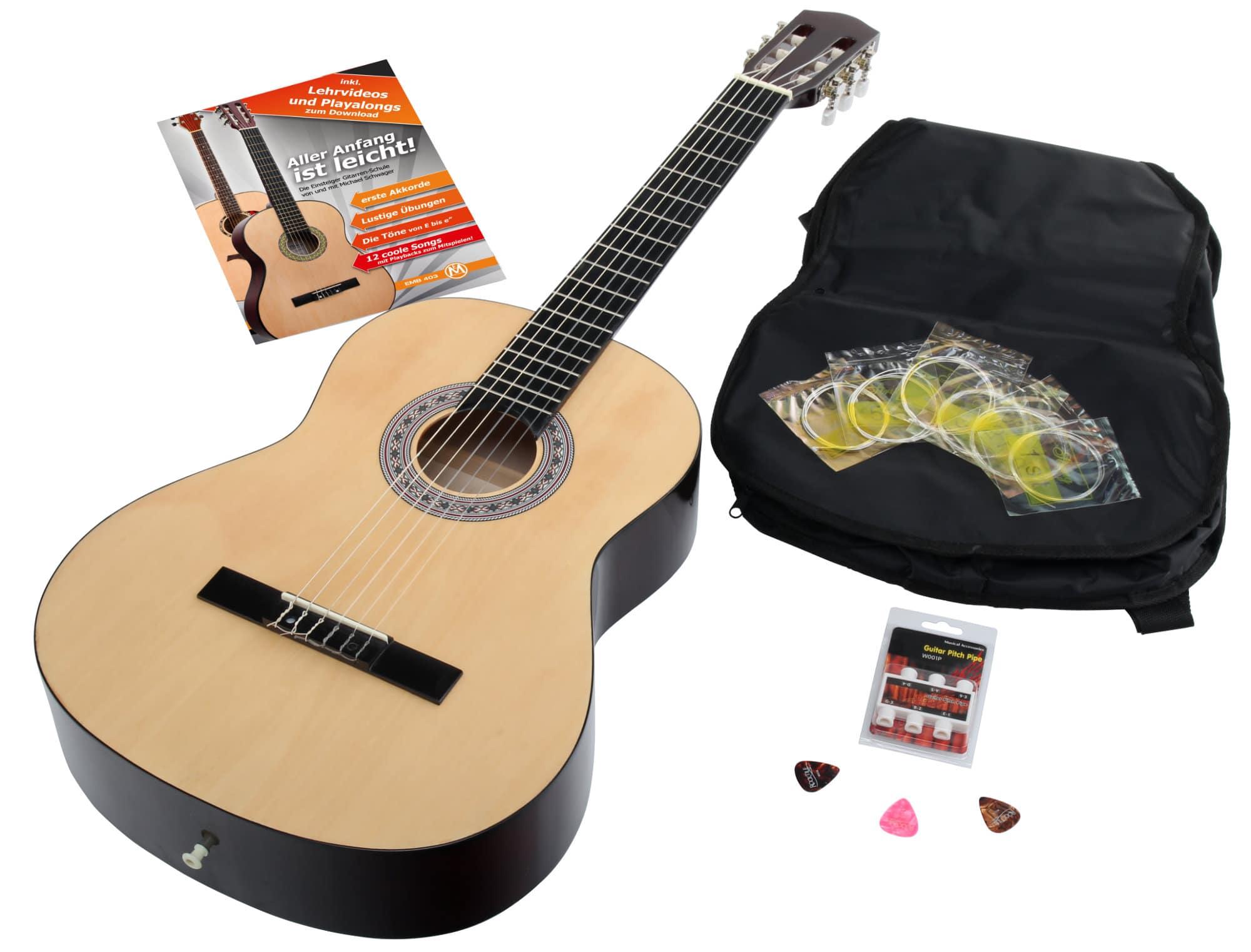 Calida Benita Concert Guitar Set 4 4 Natural With Accessories