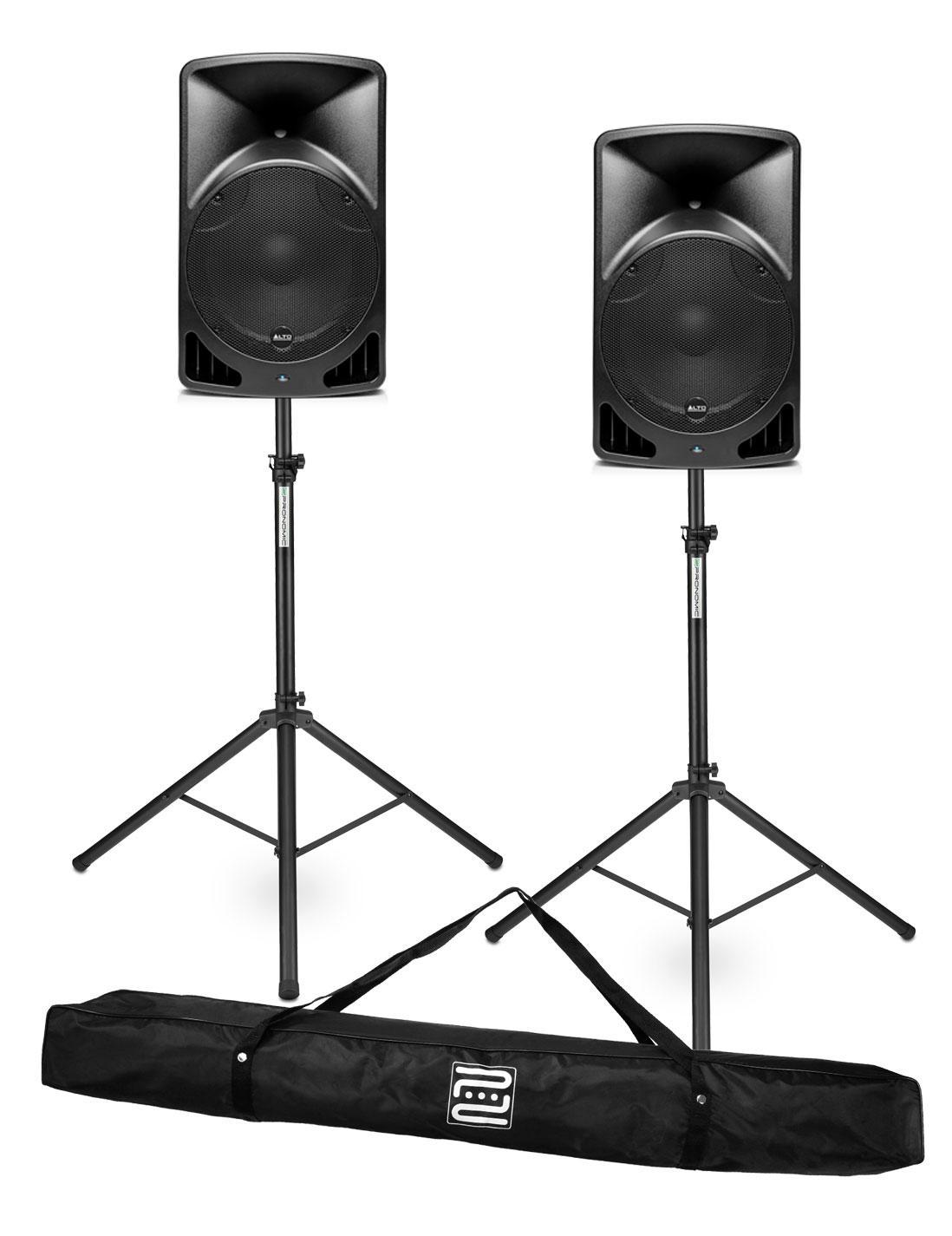 Alto TX15 Aktiver Fullrange Lautsprecher SET 2x Alto TX15, 2x Stativ inkl. Tasche