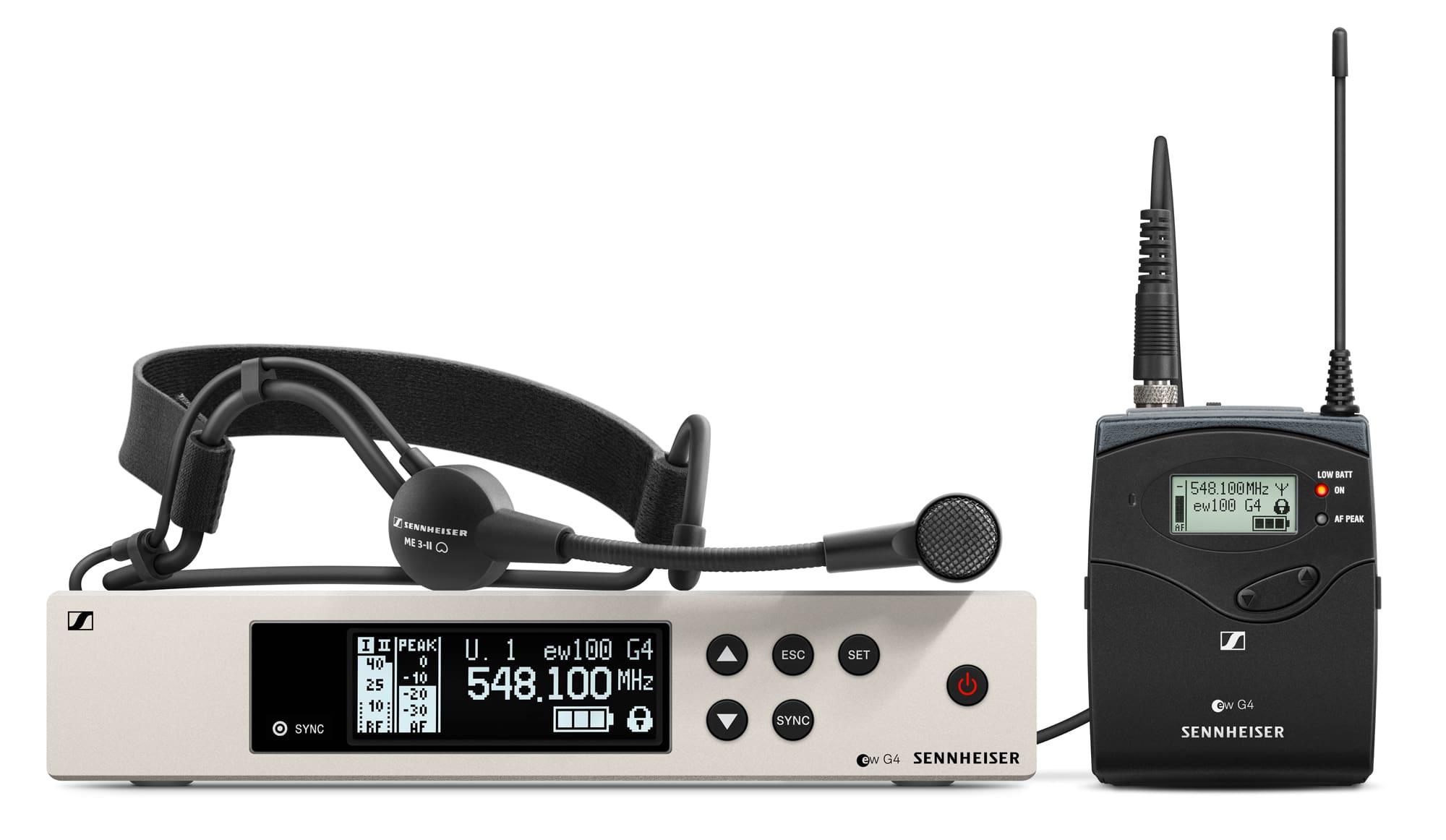 Sennheiser EW 100 G4 ME3 Headset Funkset E Band