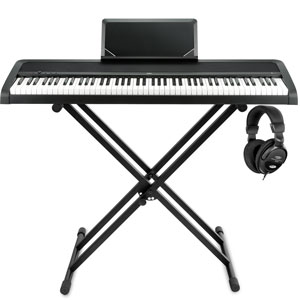 Korg B1 BK Digitalpiano Schwarz Stage Set