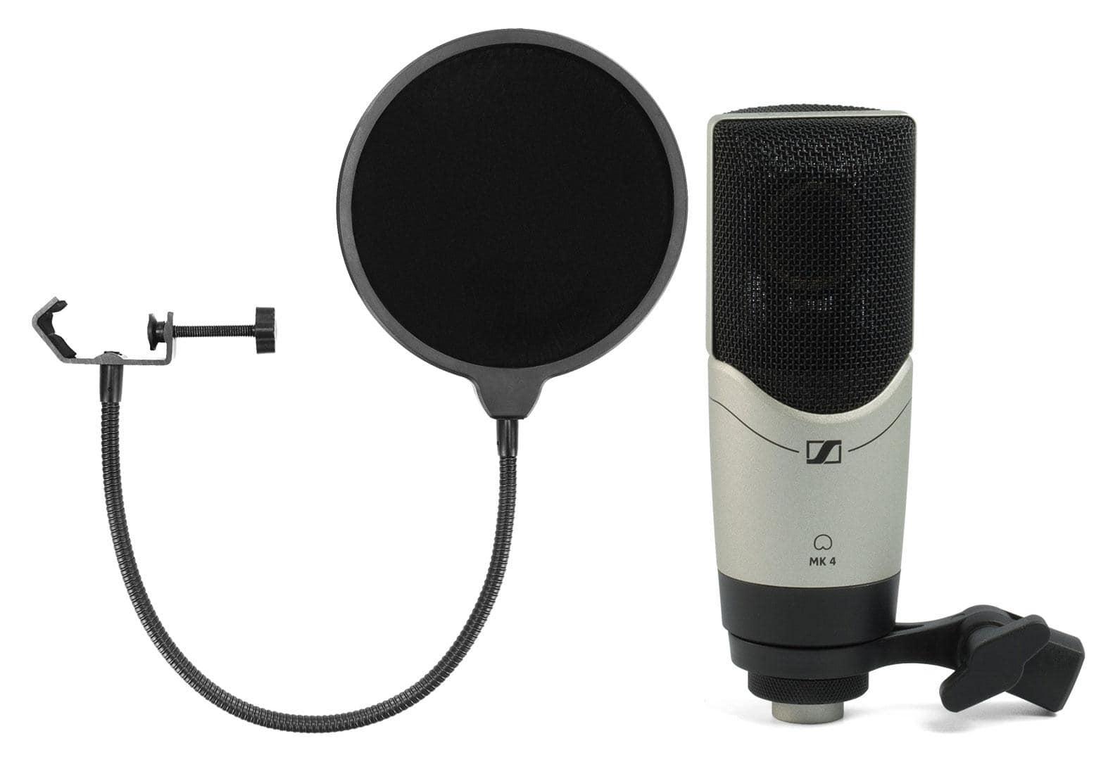Mikrofone - Sennheiser MK4 Kondensatormikrofon Set inkl. Popkiller - Onlineshop Musikhaus Kirstein