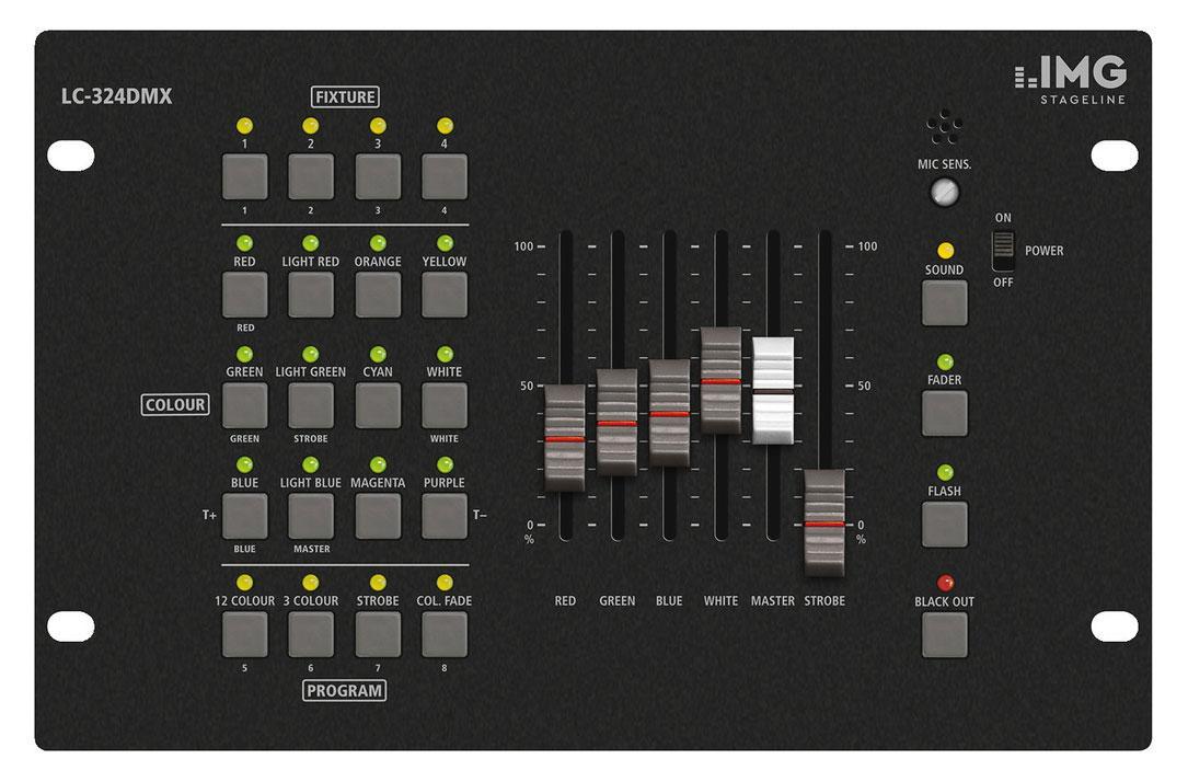 Lichtsteuerung - IMG Stageline LC 324DMX LED DMX Lichtsteuerung - Onlineshop Musikhaus Kirstein