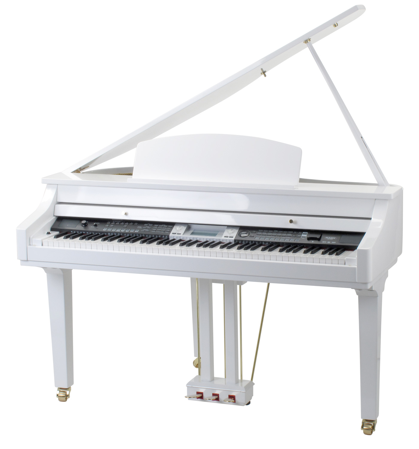 classic cantabile gp 500 digital piano white high polish. Black Bedroom Furniture Sets. Home Design Ideas