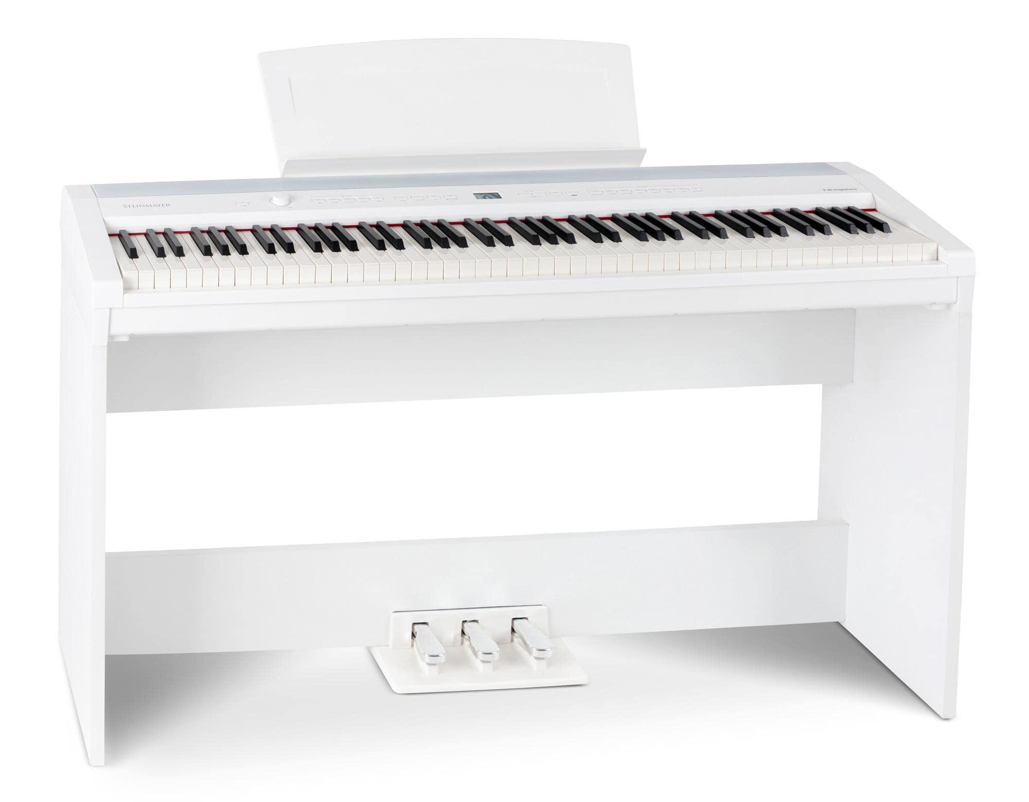 Steinmayer P 60 WM Stagepiano Set mit Unterbau weiß