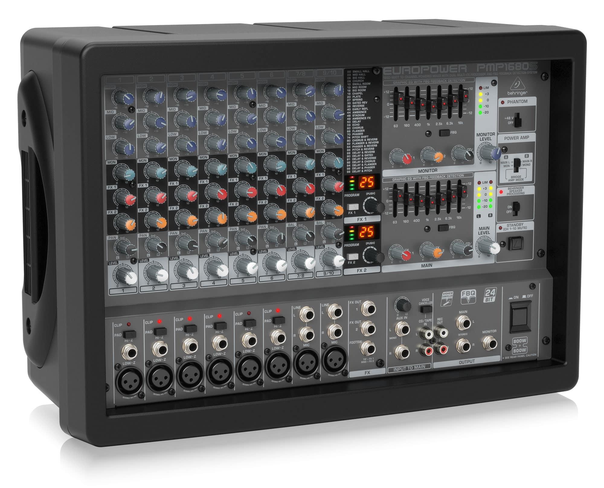 Mikrofone - Behringer PMP1680S Powermixer Retoure (Verpackungsschaden) - Onlineshop Musikhaus Kirstein