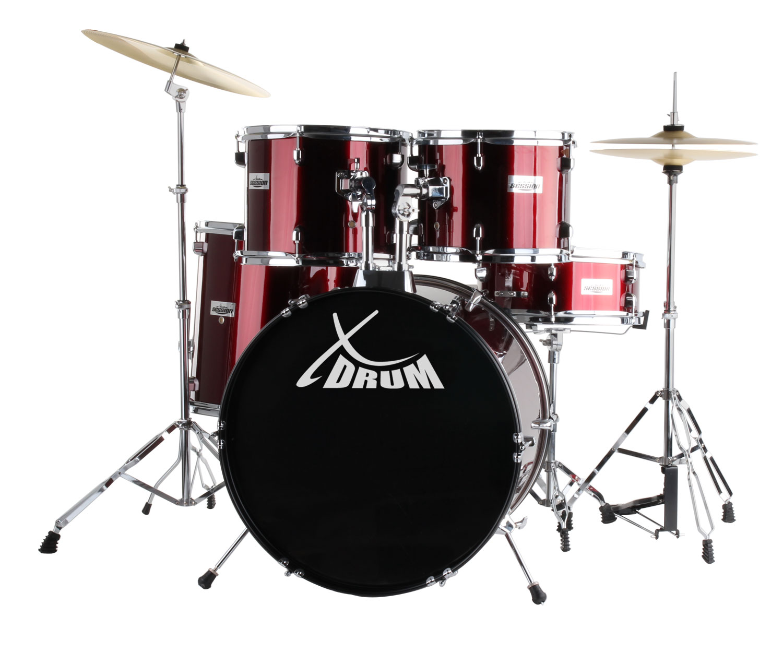 XDrum Classic Schlagzeug Komplettset Rot inkl. Schule DVD
