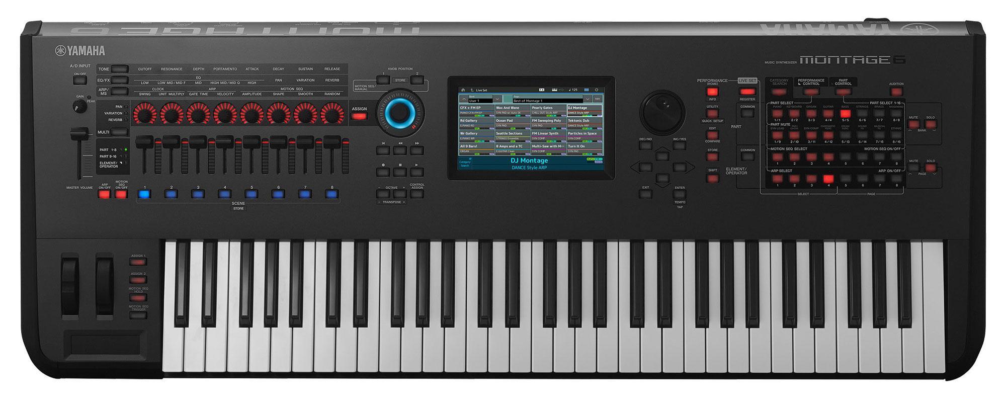 Synthesizer - Yamaha Montage 6 Synthesizer 61 Tasten - Onlineshop Musikhaus Kirstein
