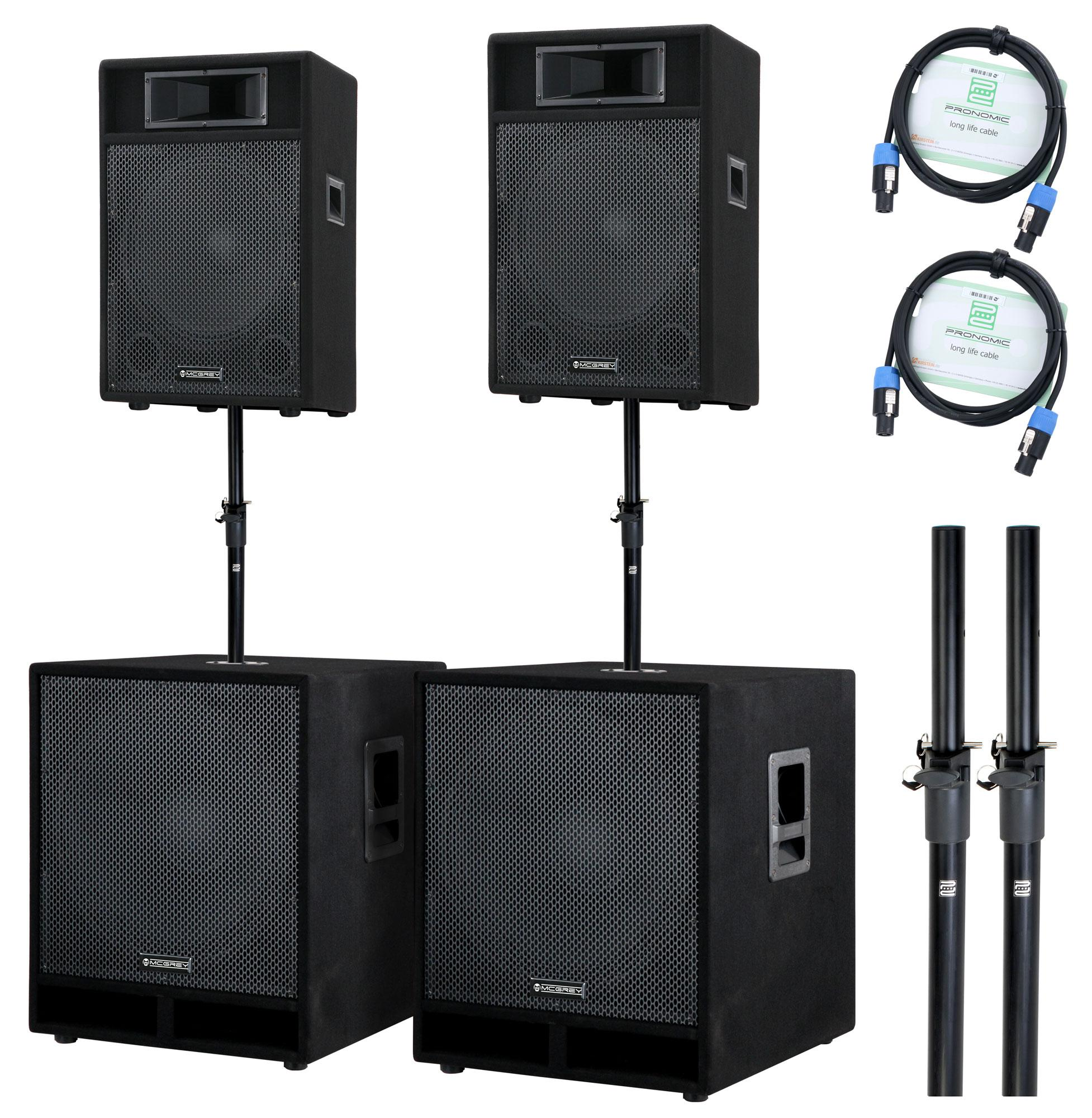 mcgrey stage 4200 pa system 4200 watts. Black Bedroom Furniture Sets. Home Design Ideas