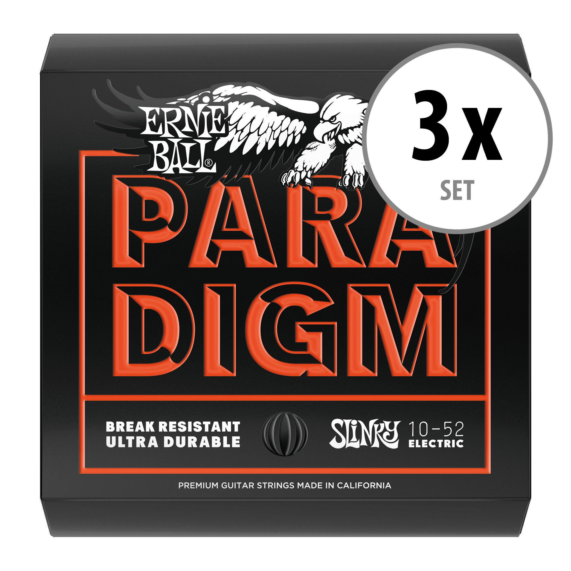 3er Set Ernie Ball 2015 Paradigm Skinny Top Heavy Bottom Slinky