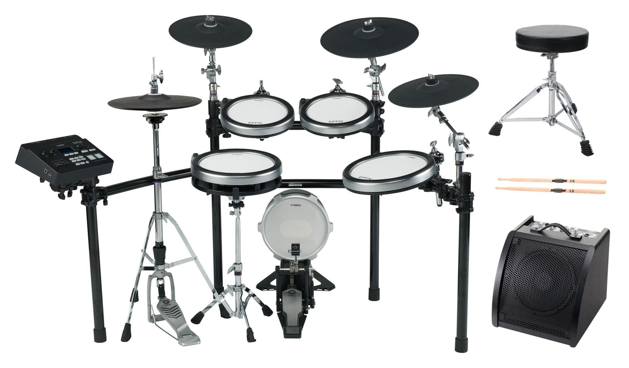 Yamaha DTX760k E Drum Kit SET 2 mit Hocker, Sticks und Drummonitor