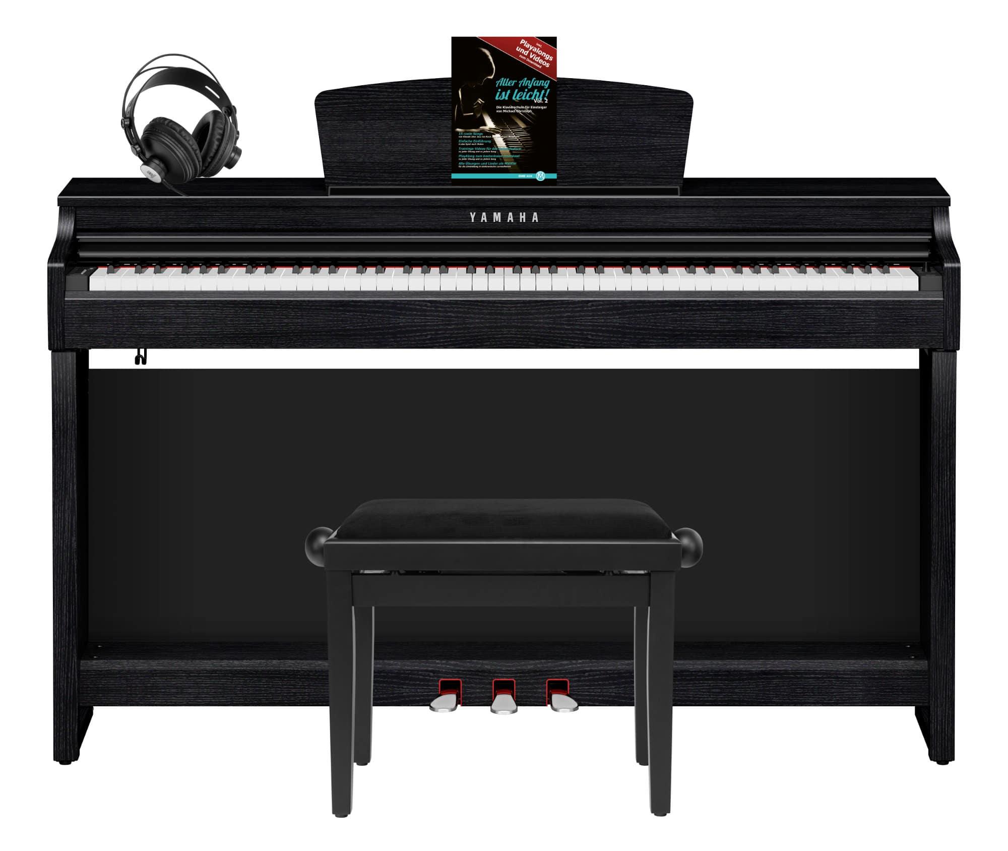Digitalpianos - Yamaha CLP 725 B Digitalpiano Schwarznuss Set - Onlineshop Musikhaus Kirstein