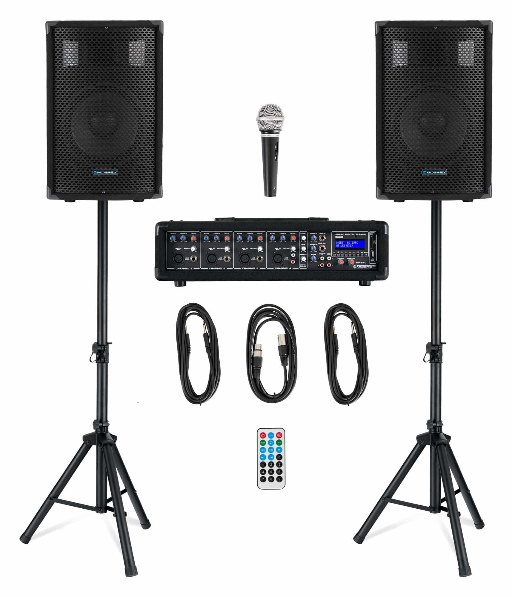 Boxenkomplettanlagen - McGrey BP 210 Bandpack PA Anlage 100 Watt - Onlineshop Musikhaus Kirstein