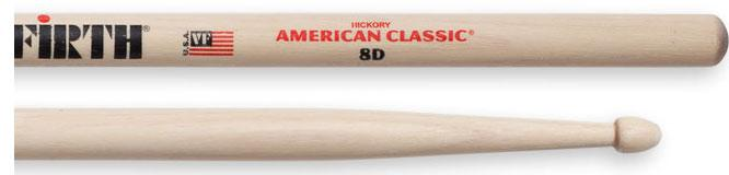 Vic Firth Holz Drumsticks American Classic 8D
