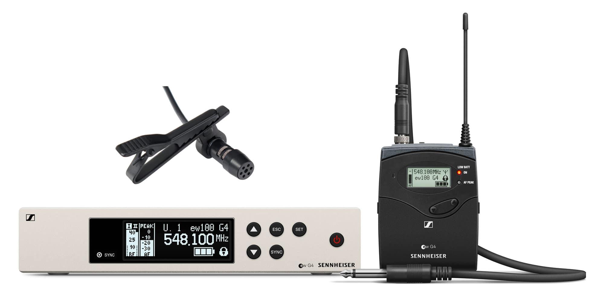 Drahtlossysteme - Sennheiser EW 100 G4 Ci1 Instrument Funkset 1G8 inkl. LA 30 EA Lavaliermikrofon - Onlineshop Musikhaus Kirstein