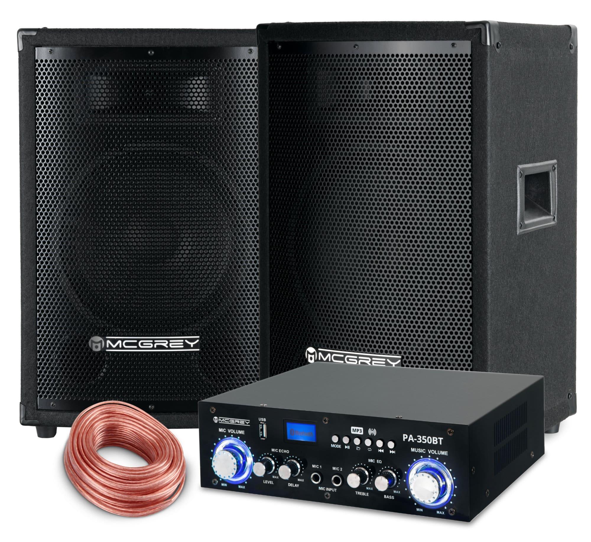 McGrey PA Komplettset PowerDJ 1500 800W