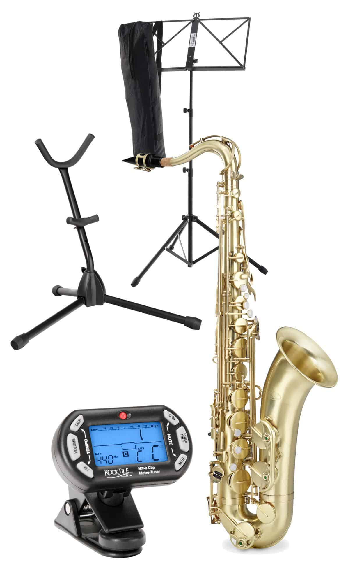 Classic Cantabile TS 450 Bb Brushed Tenorsaxophon SET