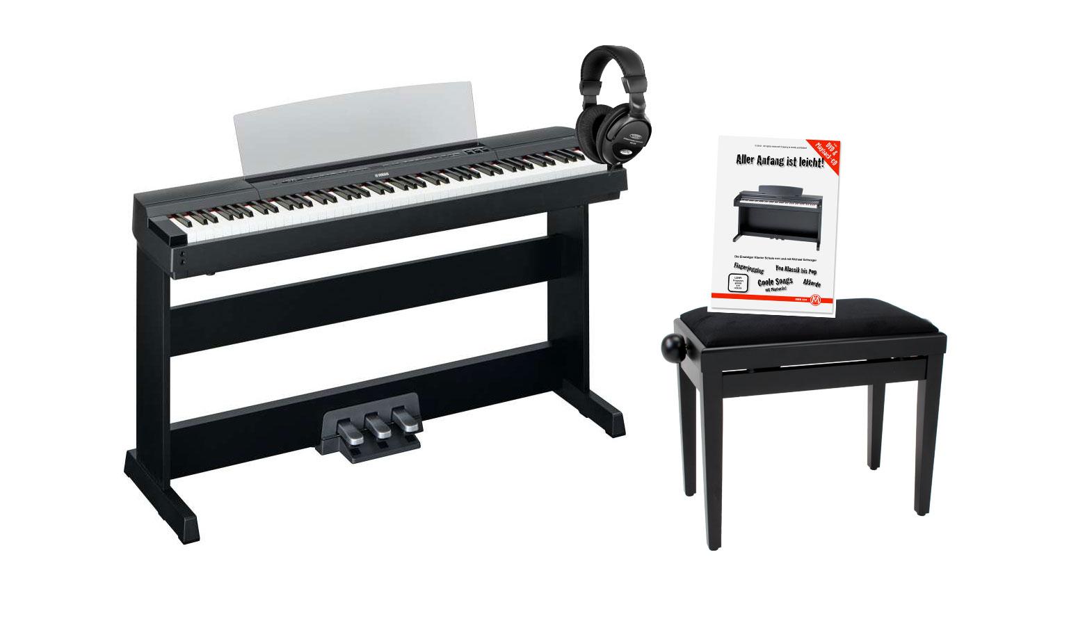Yamaha P 255B Stagepiano schwarz Home Set L 255B Ständer,LP 255B Pedal, Bank, Kopfhörer und Schule