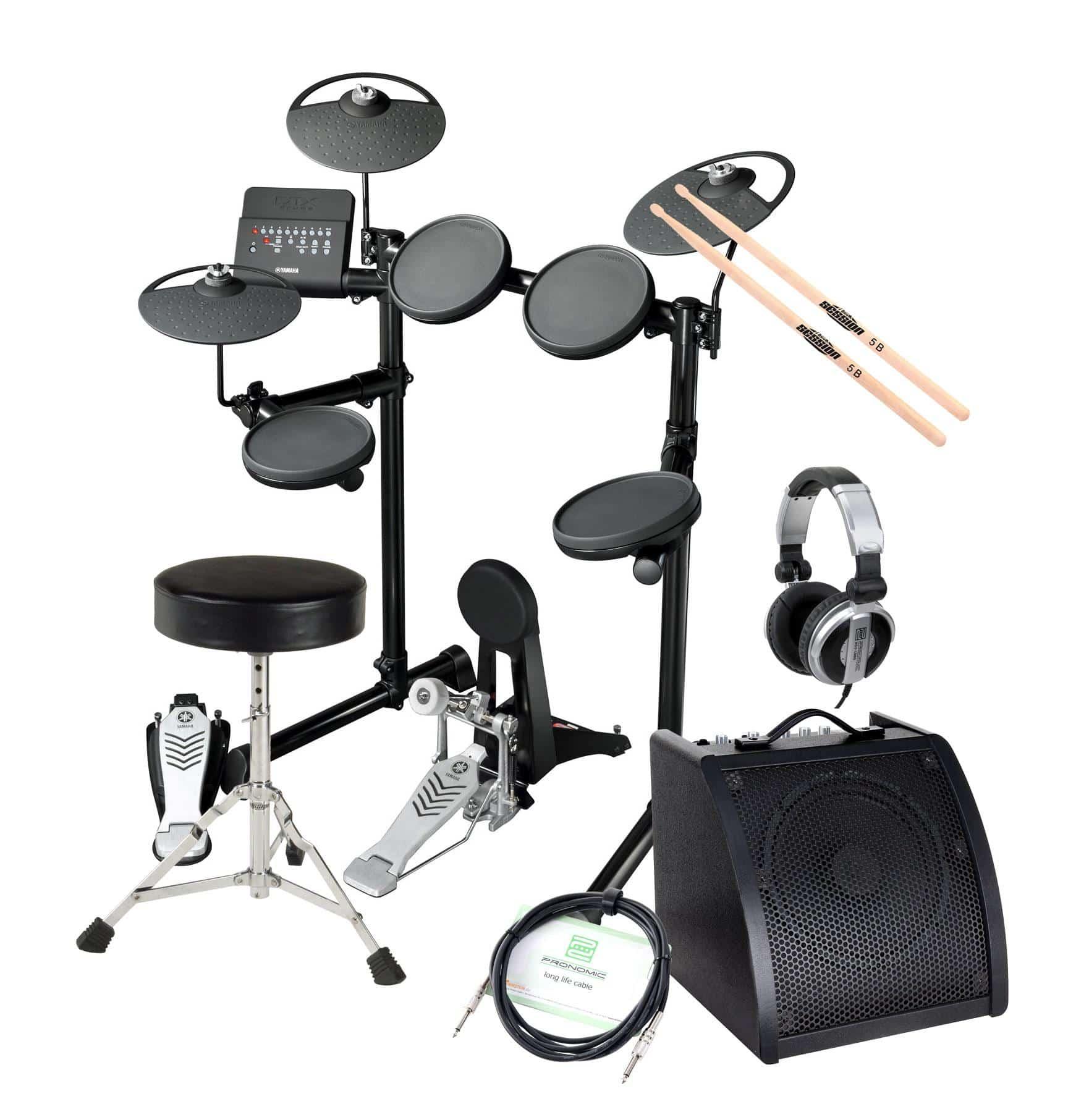 Yamaha DTX430K Compact E Drum SET inkl. Verstärker Kopfhörer Drumhocker Sticks