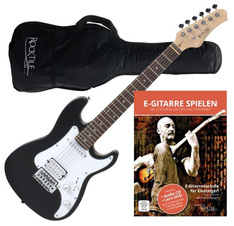 Rocktile Sphere Junior E Gitarre 3|4 Schwarz Gitarren Schule