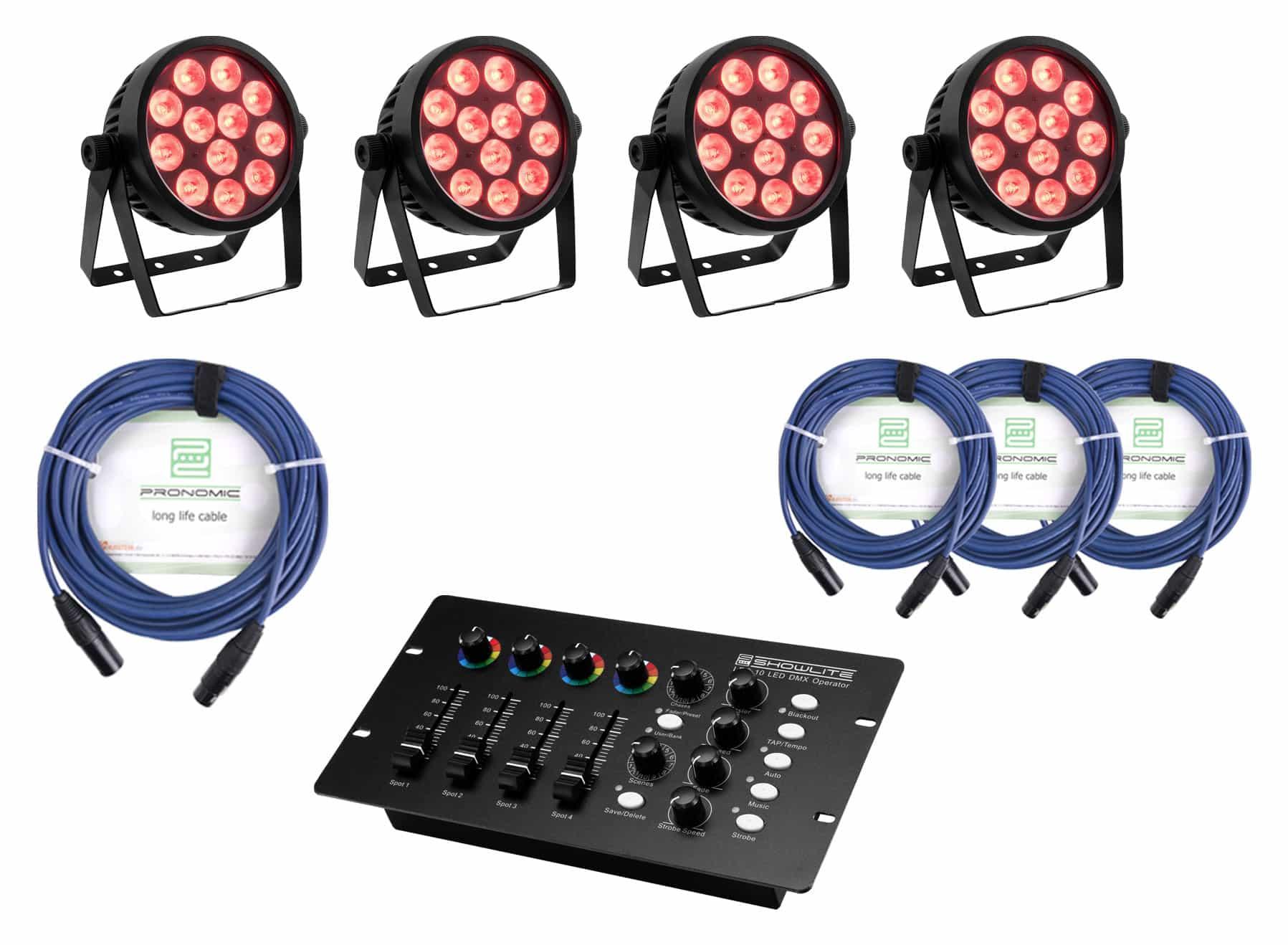 Lichtsets - Eurolite LED 4C 12 Silent Slim Spot Controller Set - Onlineshop Musikhaus Kirstein