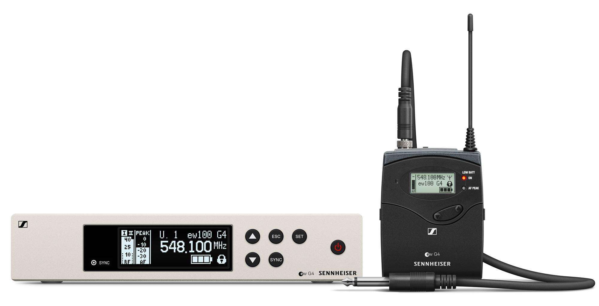 Drahtlossysteme - Sennheiser EW 100 G4 Ci1 Instrument Funkset 1G8 - Onlineshop Musikhaus Kirstein