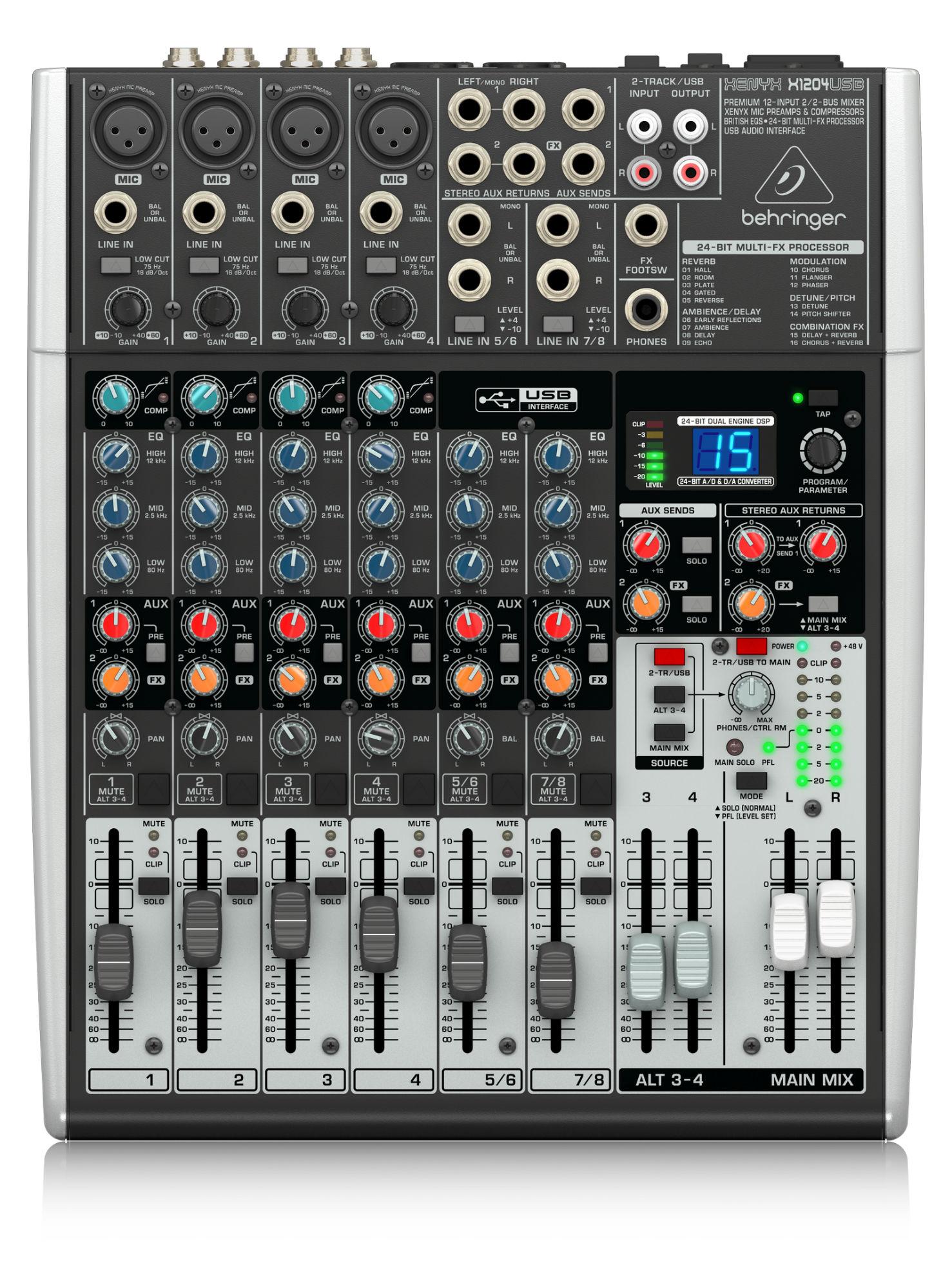 Mischpulte - Behringer Xenyx X1204 USB - Onlineshop Musikhaus Kirstein