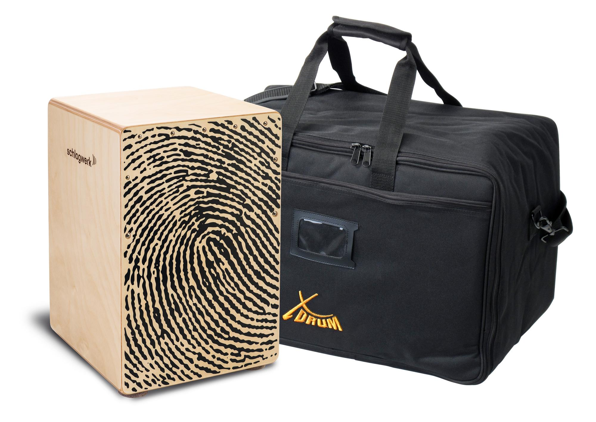 Schlagwerk CP118 Cajon X One Fingerprint Medium Set inkl. Tasche