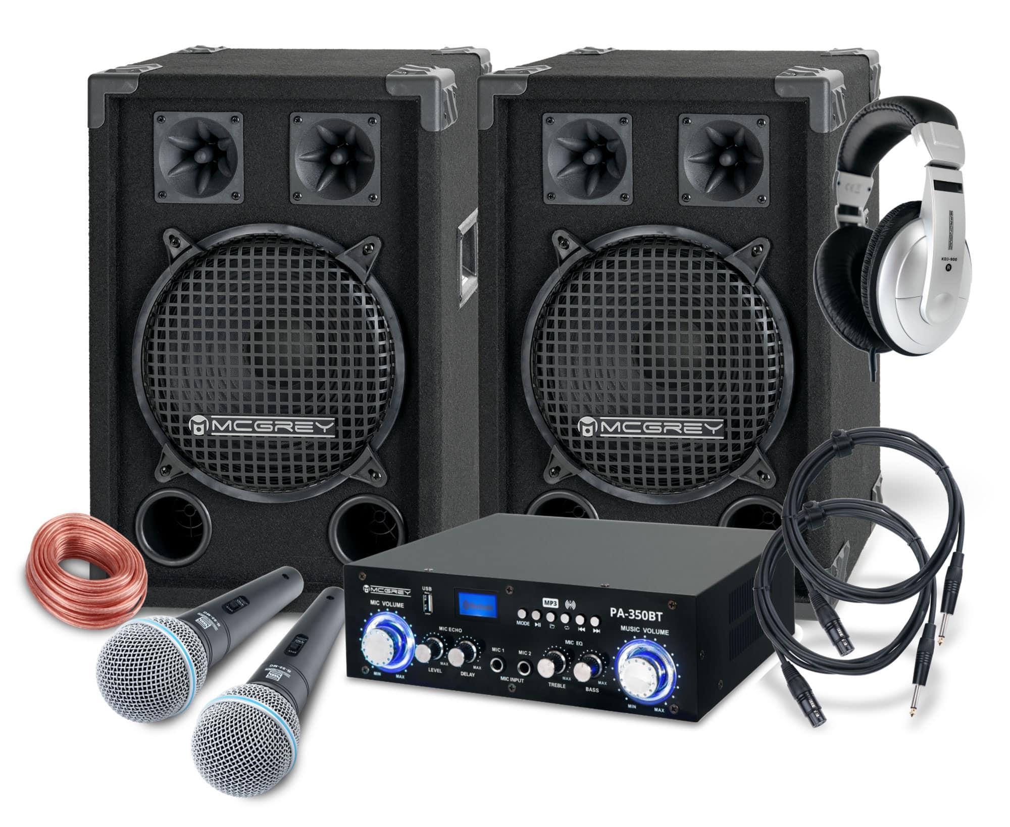 Djkomplettanlagen - McGrey DJ Karaoke Komplettset Party 1200 800W - Onlineshop Musikhaus Kirstein