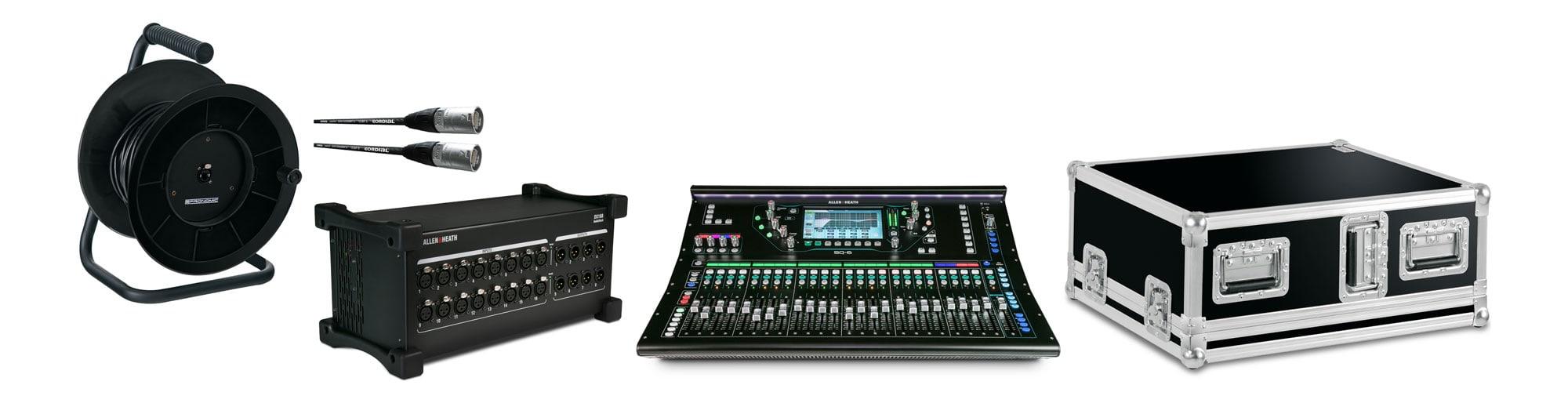 Mischpulte - Allen Heath SQ6 Digital Mischpult DX168 X Set mit Case - Onlineshop Musikhaus Kirstein