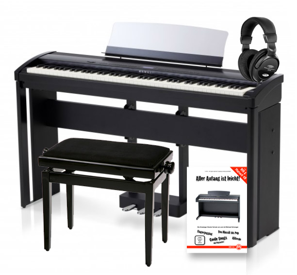 kawai es 7 b stagepiano black set. Black Bedroom Furniture Sets. Home Design Ideas