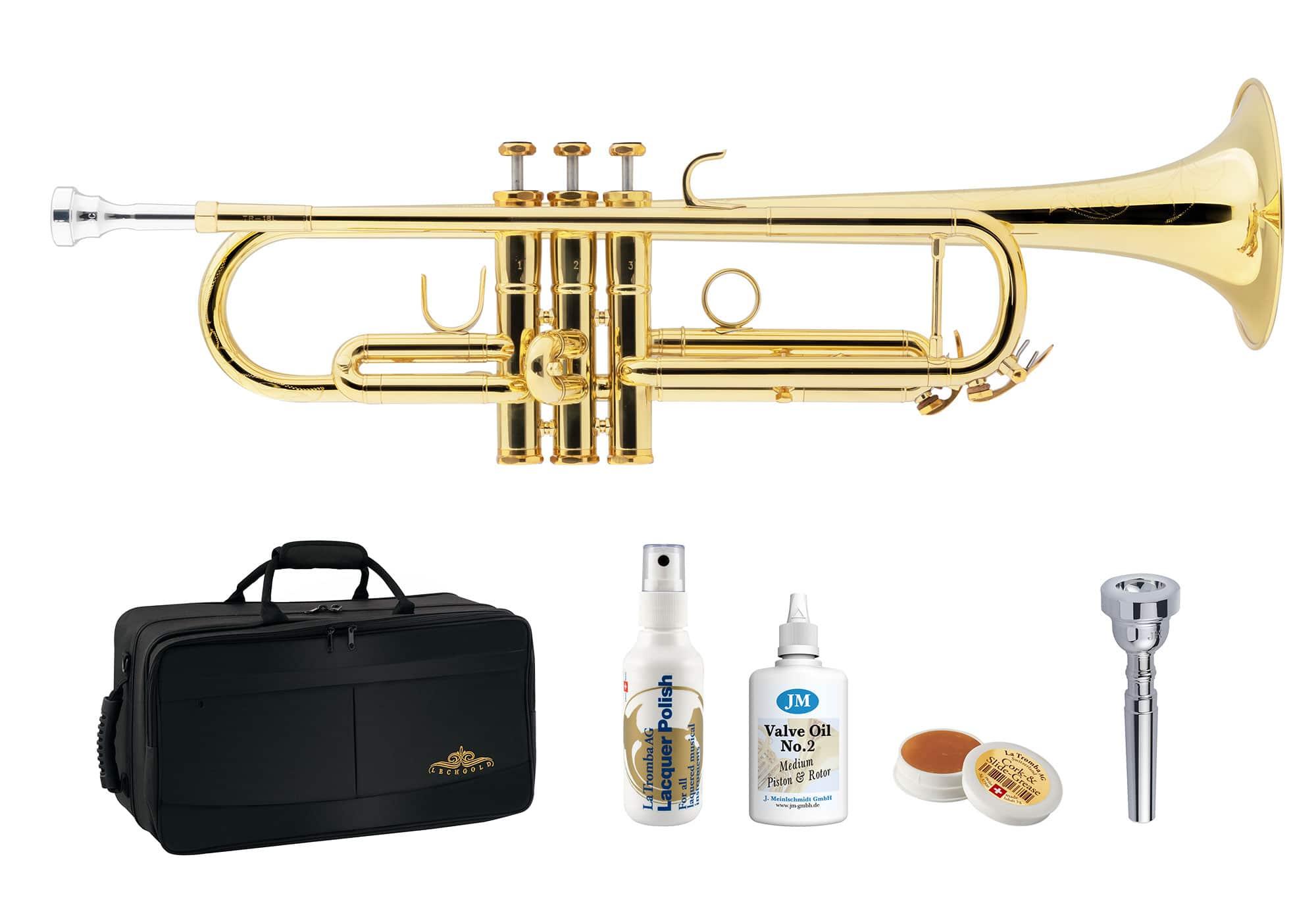 Trompeten - Lechgold TR 18L Bb Trompete lackiert Deluxe Set - Onlineshop Musikhaus Kirstein
