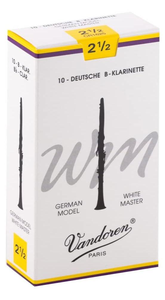 Blaeserzubehoer - Vandoren White Master WM Tradional Bb Klarinette Blätter (2,5) 10er Pack - Onlineshop Musikhaus Kirstein