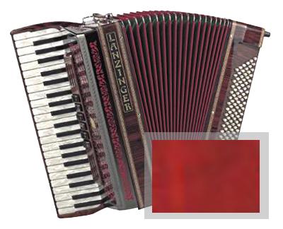 Lanzinger 3/120C Akkordeon 3-chörig Vogelaugen Rot