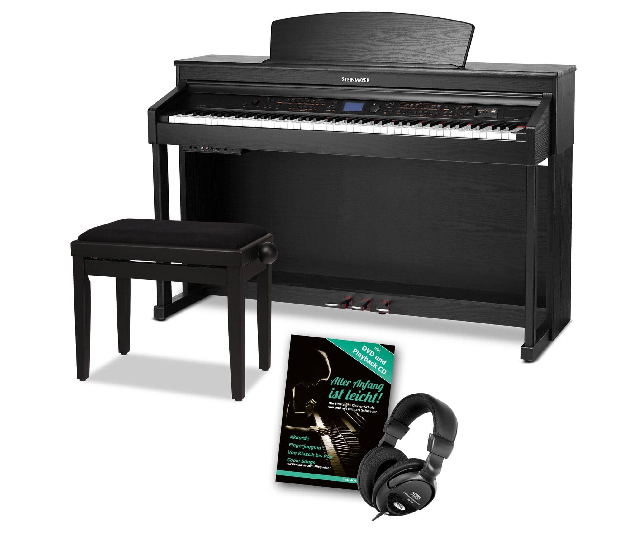 Steinmayer DP 380 SM Digitalpiano schwarz matt SET