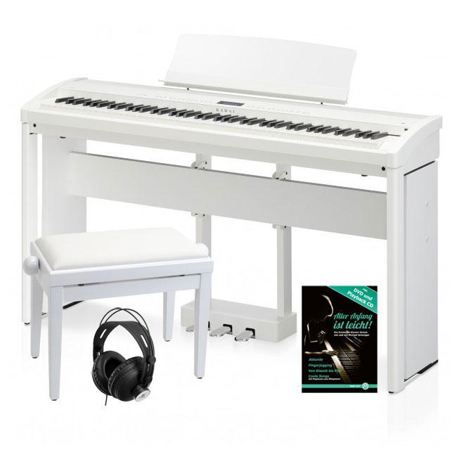 kawai es 8 sw stagepiano wei deluxe set inkl st nder pedal bank kopfh rer und schule. Black Bedroom Furniture Sets. Home Design Ideas