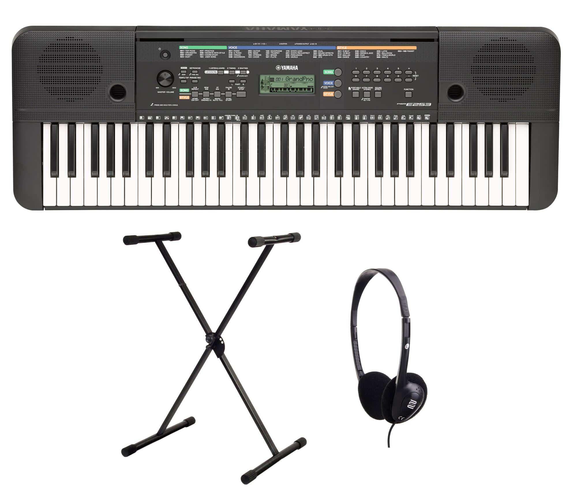 Yamaha PSR E253 Keyboard SET inkl. Ständer und Kopfhörer PSR-E253 Set