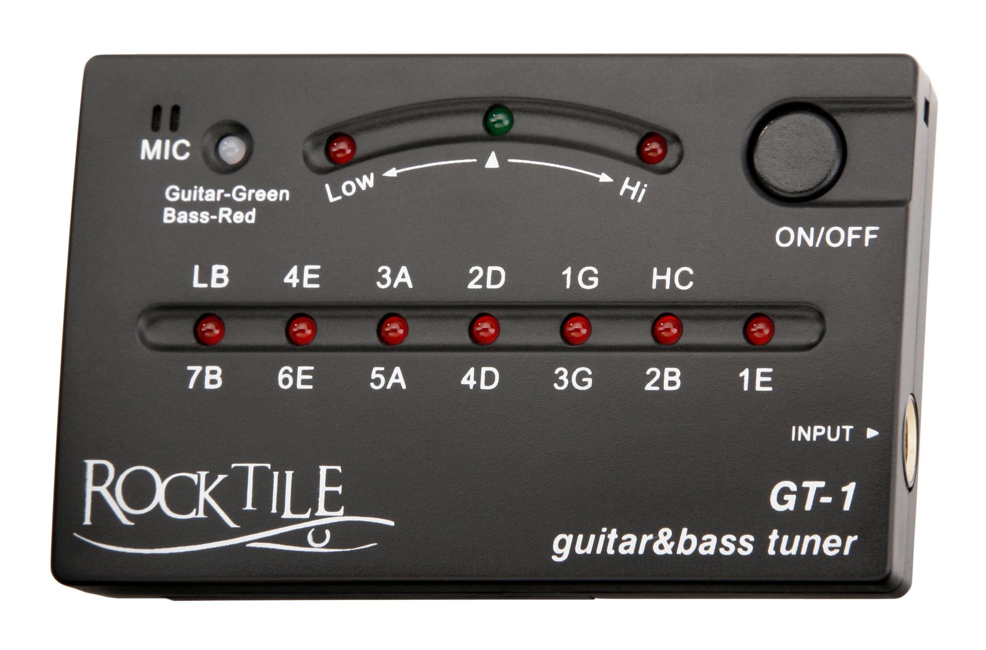 Musikerzubehoer - Rocktile GT 1 Stimmgerät für Gitarre Bass - Onlineshop Musikhaus Kirstein