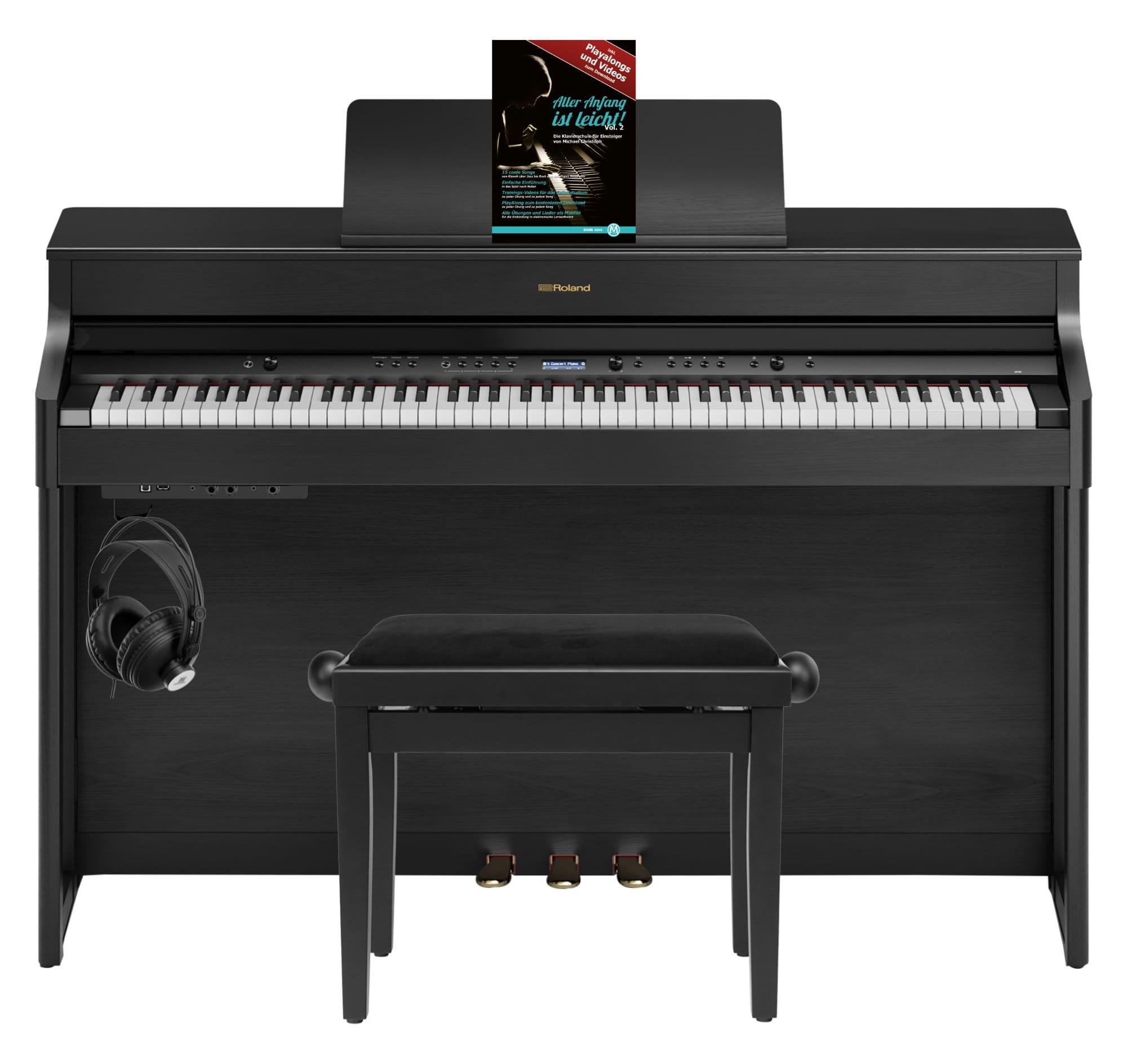Digitalpianos - Roland HP702 CH Digitalpiano Set Schwarz matt - Onlineshop Musikhaus Kirstein