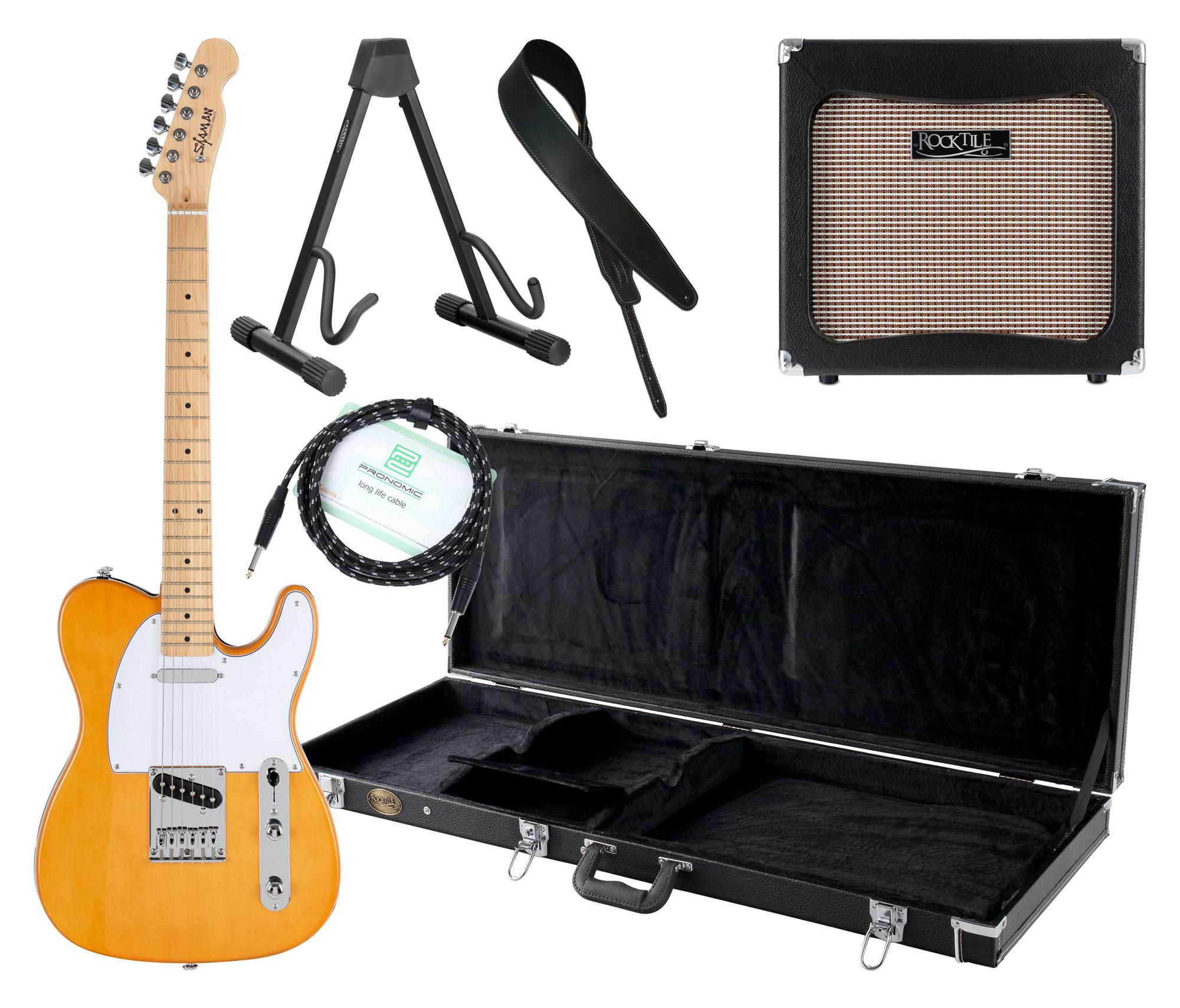 Egitarren - Shaman Element Series TCX 100BL Komplett Set - Onlineshop Musikhaus Kirstein