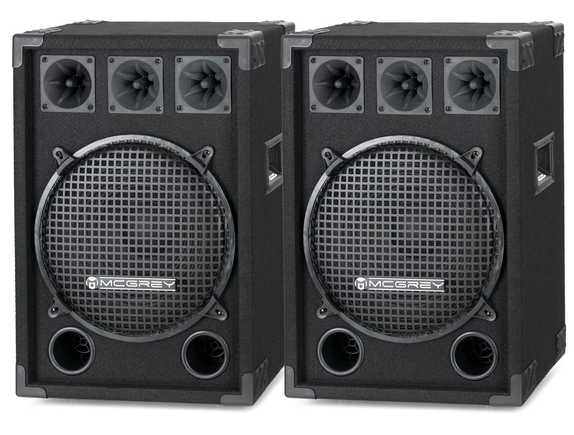 McGrey DJ 1222 Partykeller|DJ Box Paar 2 x 600W