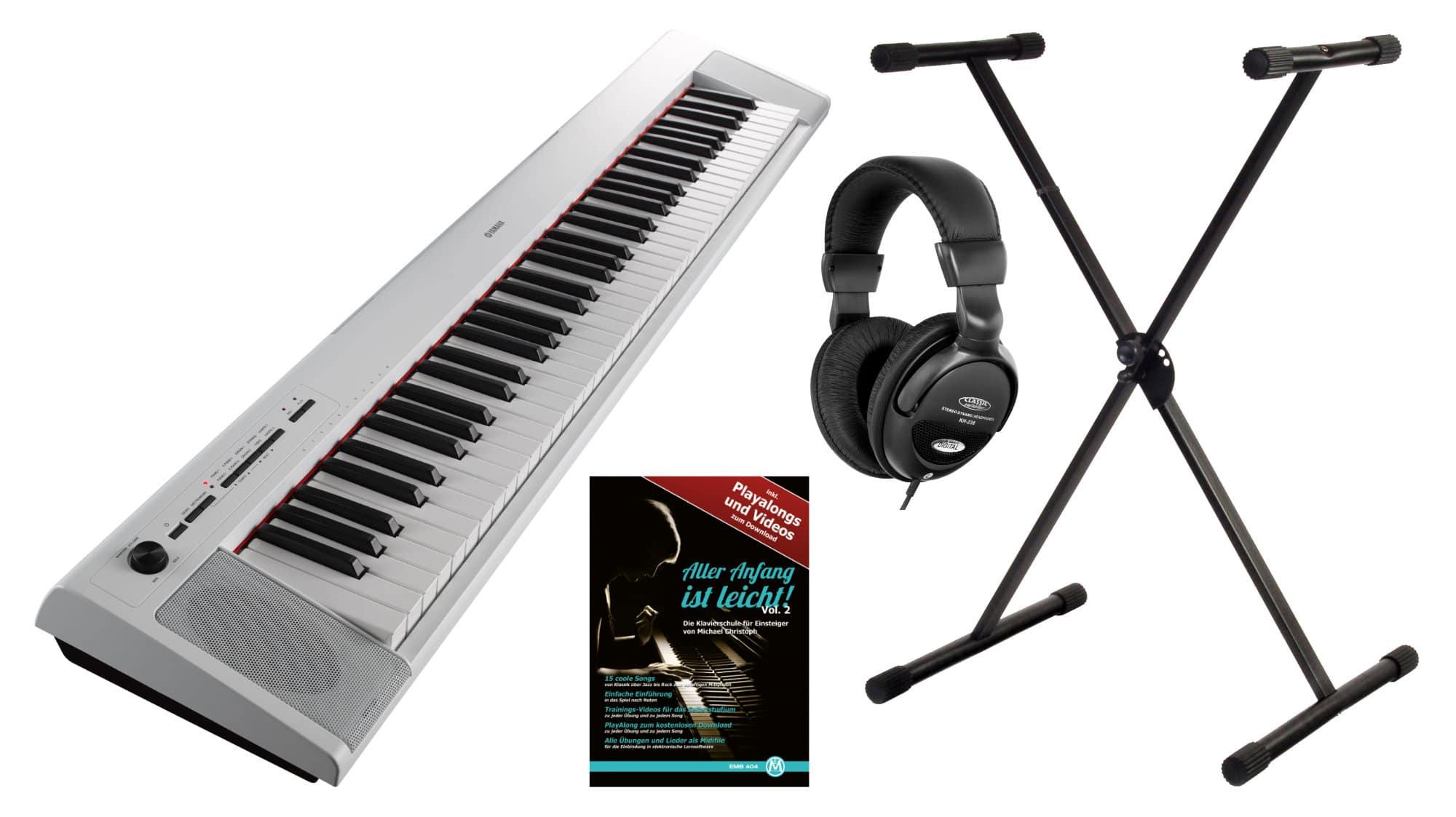 Digitalpianos - Yamaha NP 32 Portable Piano weiß Set - Onlineshop Musikhaus Kirstein