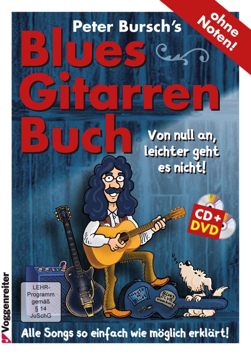 Gitarrelernen - Peter Bursch's Blues Gitarrenbuch 1 CD DVD - Onlineshop Musikhaus Kirstein