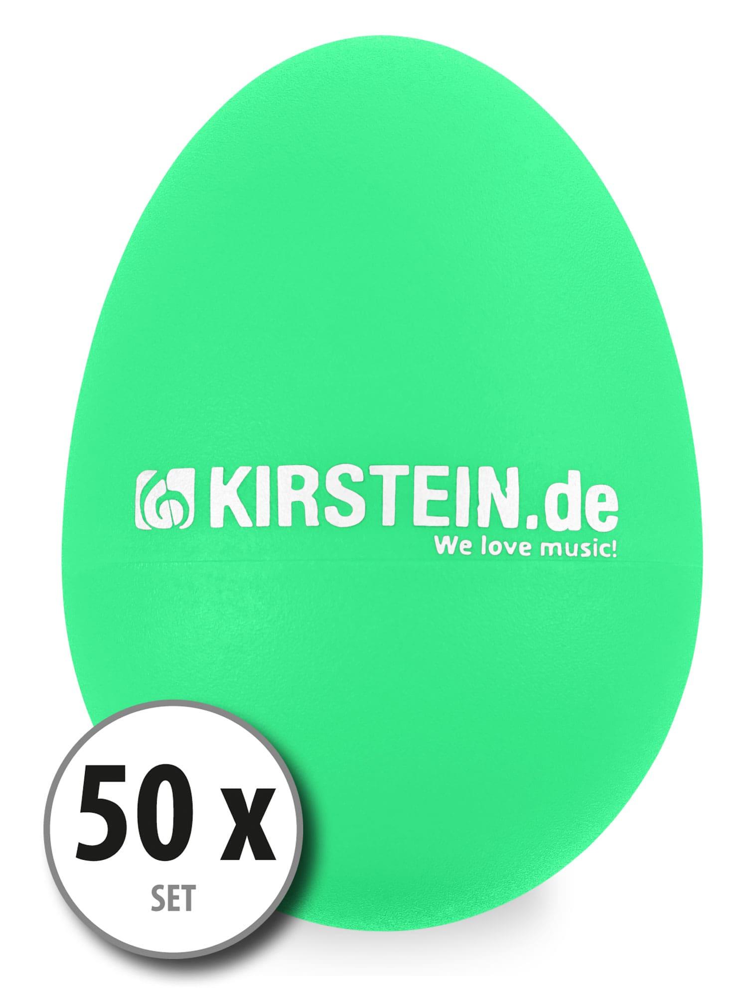 50x Kirstein ES 10G Egg Shaker grün Medium Heavy Set