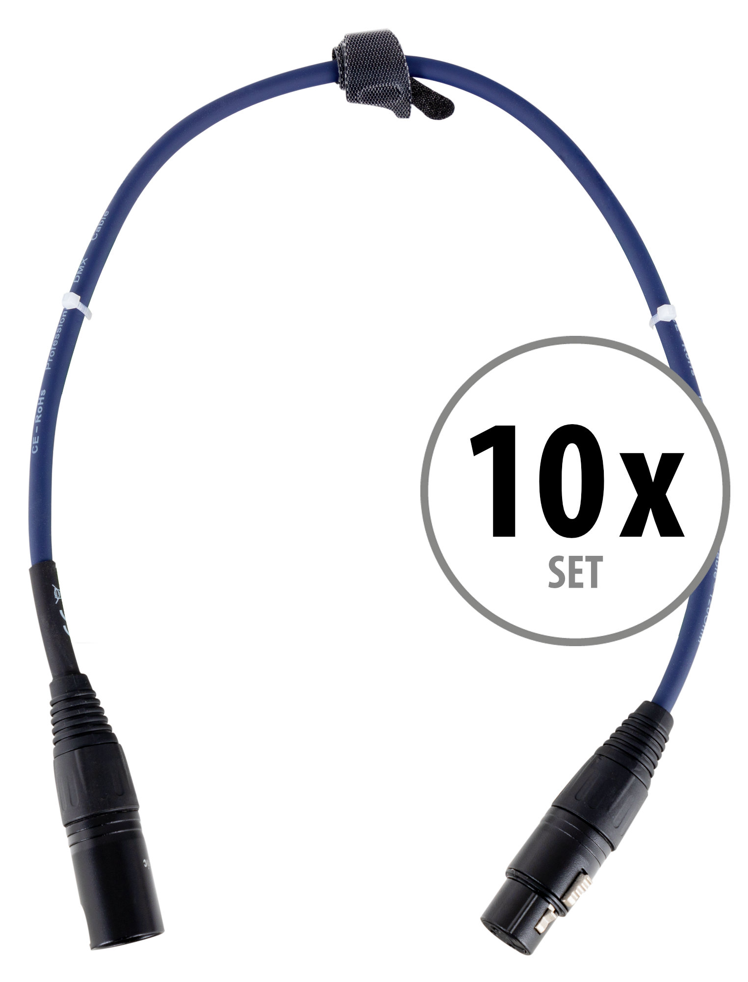 Pronomic Stage DMX3 0,5 DMX Kabel 0,5m 10x Set