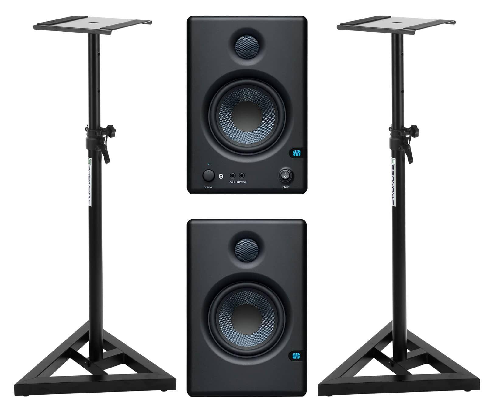 Studiomonitore - PreSonus Eris E4.5 BT Aktives Studiomonitor Set inkl. Boxenstativen - Onlineshop Musikhaus Kirstein