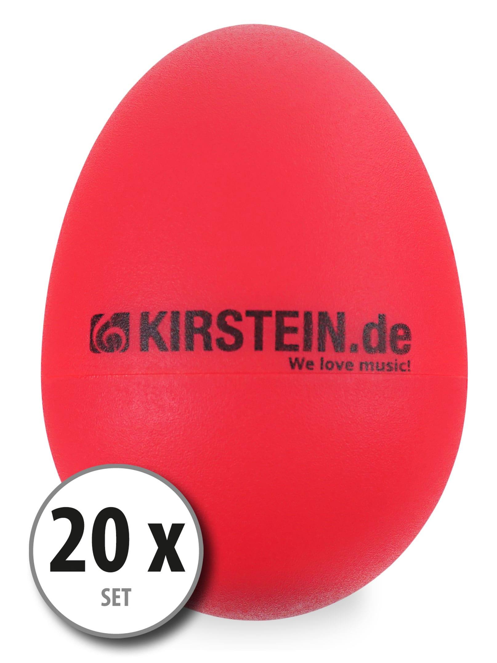 20x Kirstein ES 10R Egg Shaker rot Light Set