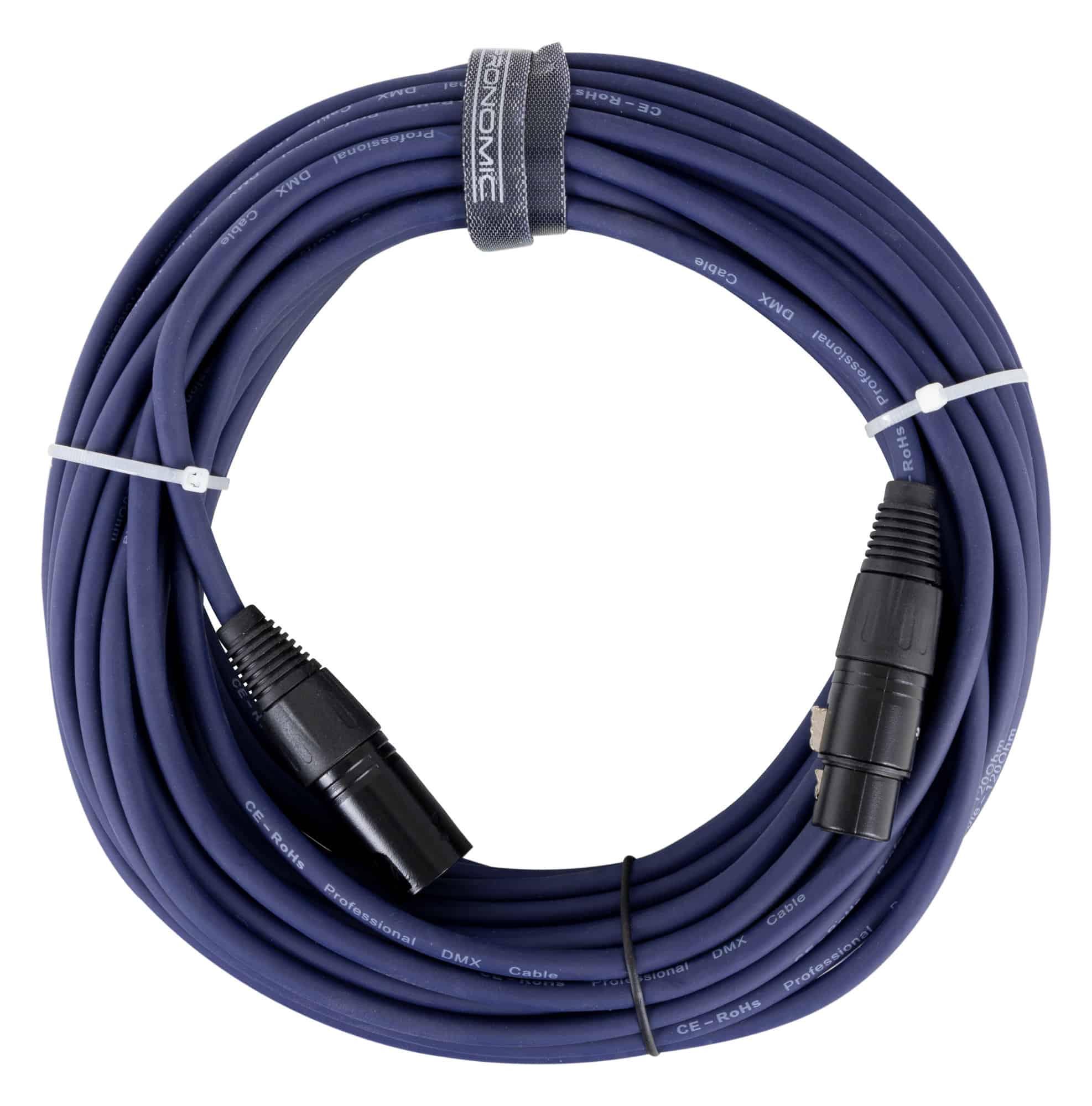 Pronomic Stage DMX3 15 DMX Kabel 15m blau mit Goldkontakten